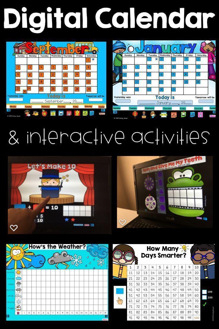 Interactive Digital Calendar And Activities Powerpoint