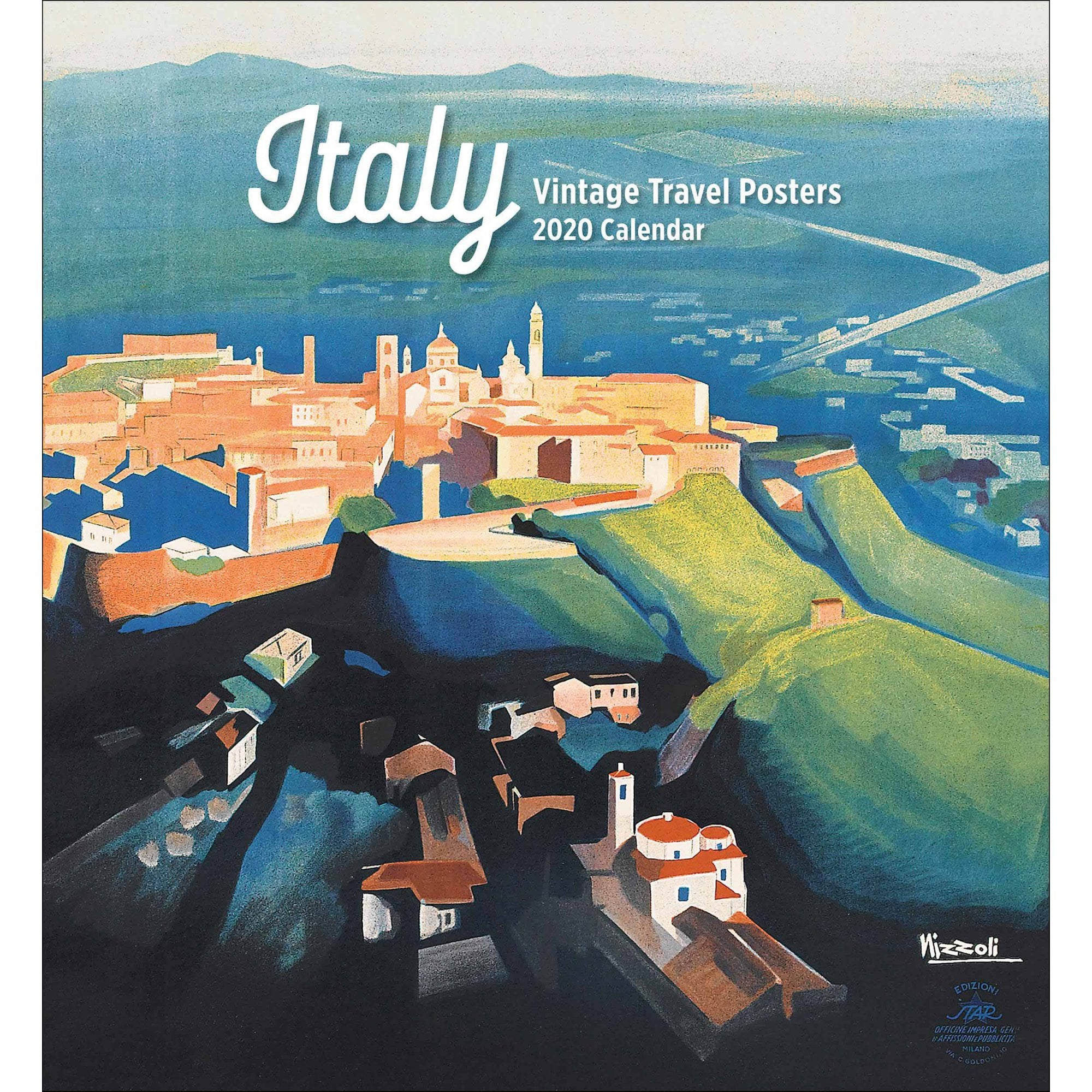 Italy / Vintage Travel 2020 Wall Calendar