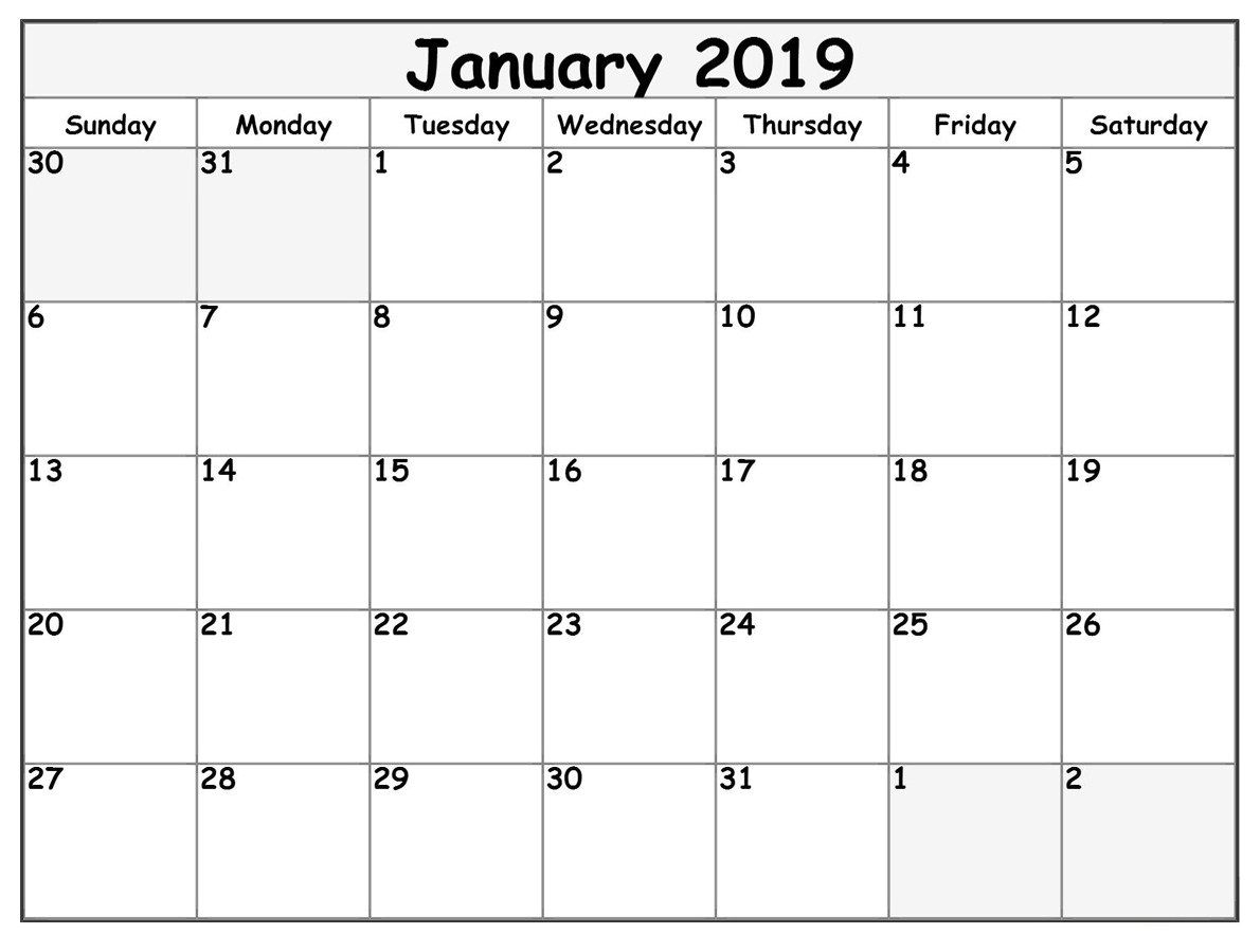 January 2019 Calendar For #pdf Template | June Calendar