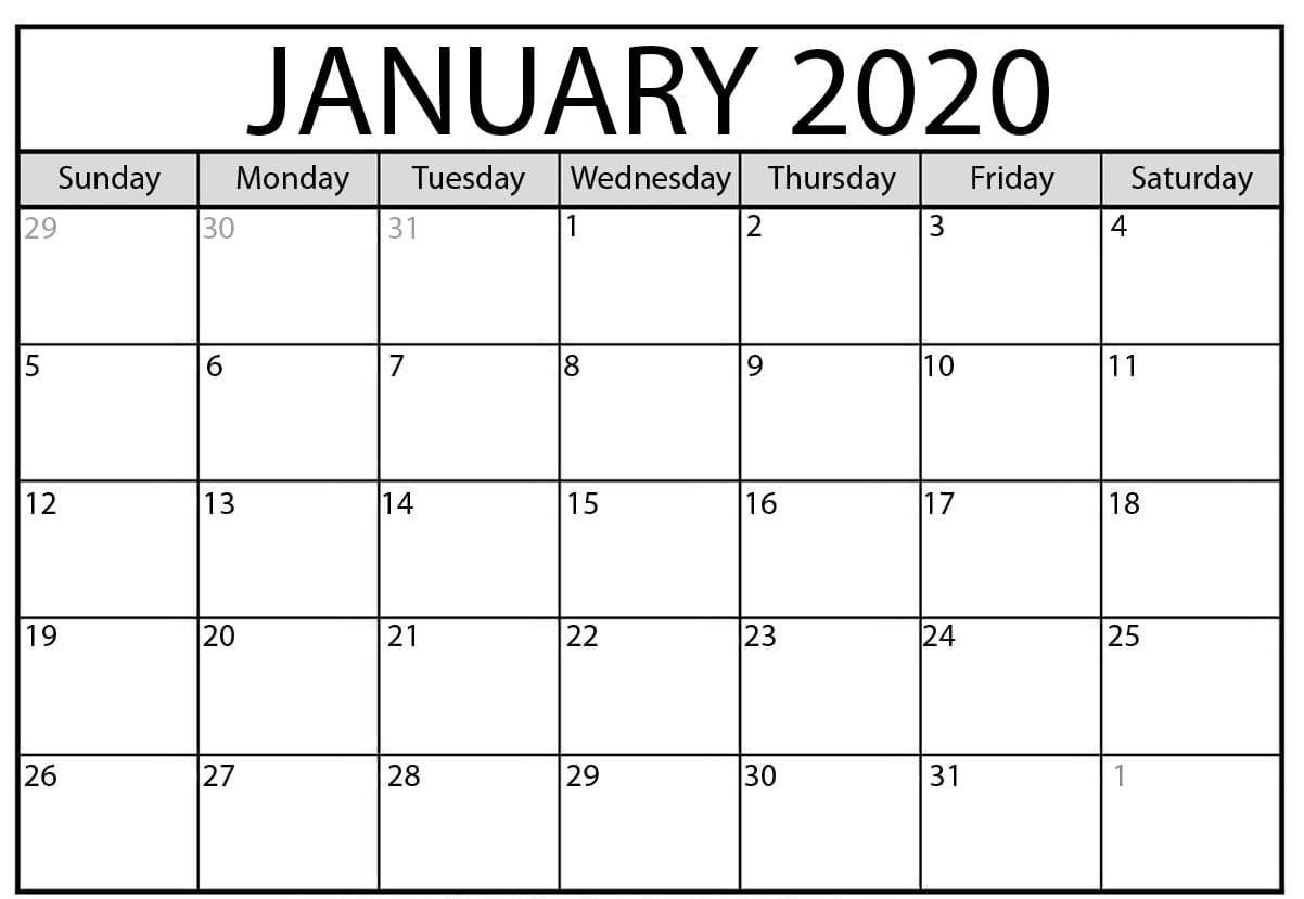 January 2020 Calendar   August Calendar, July Calendar, 2020