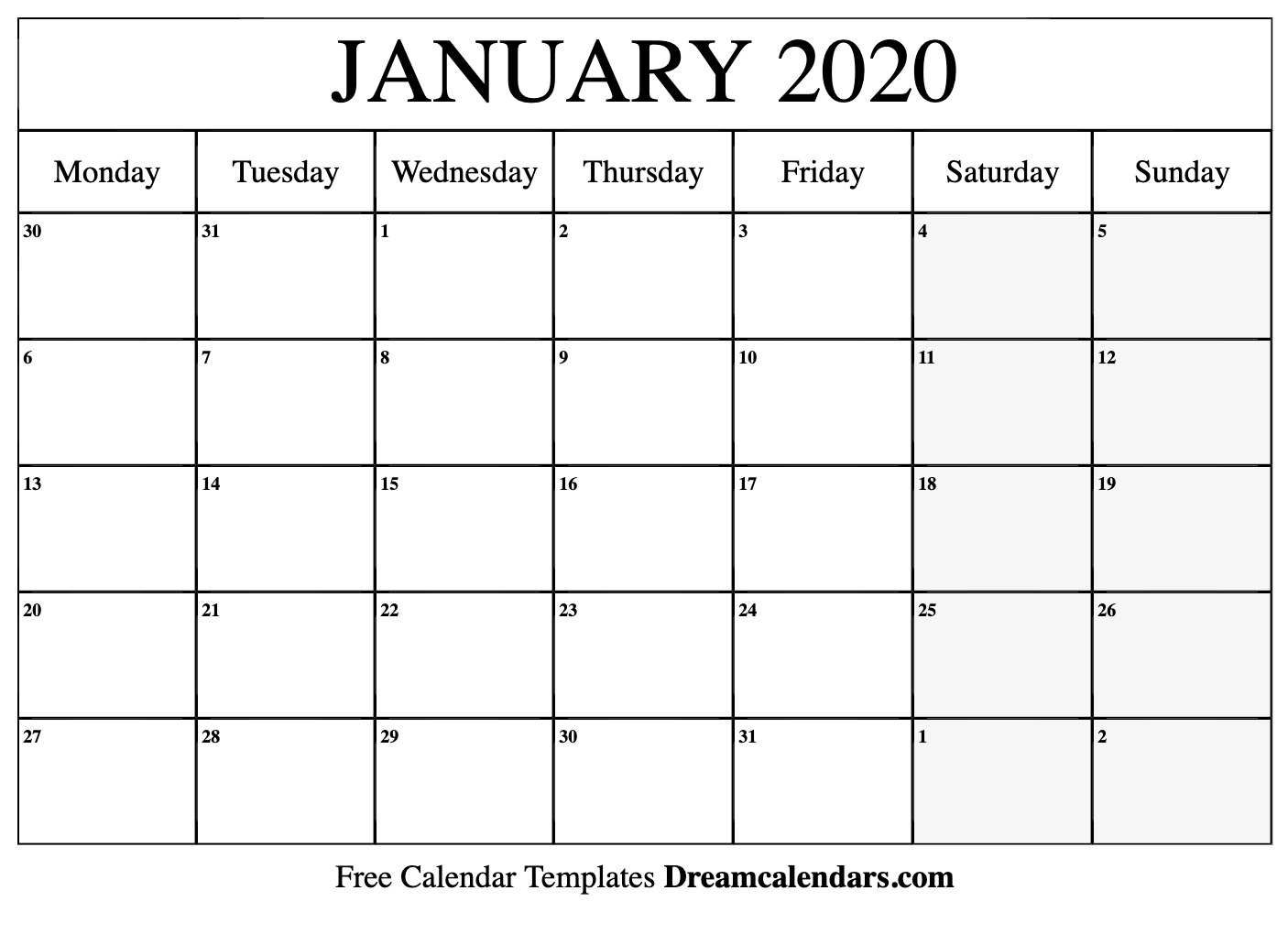 January 2020 Calendar Editable - Wpa.wpart.co