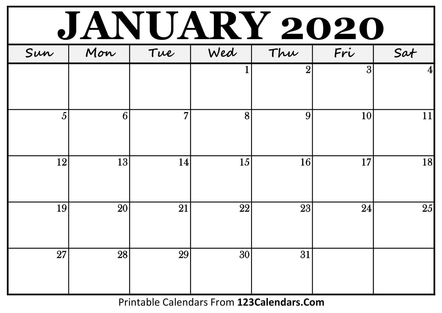 January 2020 Calendar For Kids - Wpa.wpart.co