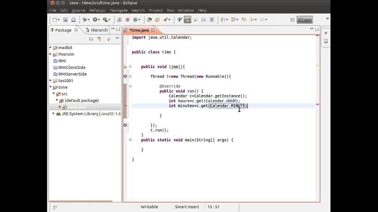 Java Thread + Calendar Print The Time Each 1 Second - Youtube