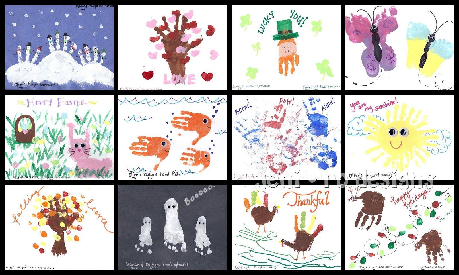 Jeni Ro Designs - Kids Handprint Calendar | Handprint Art
