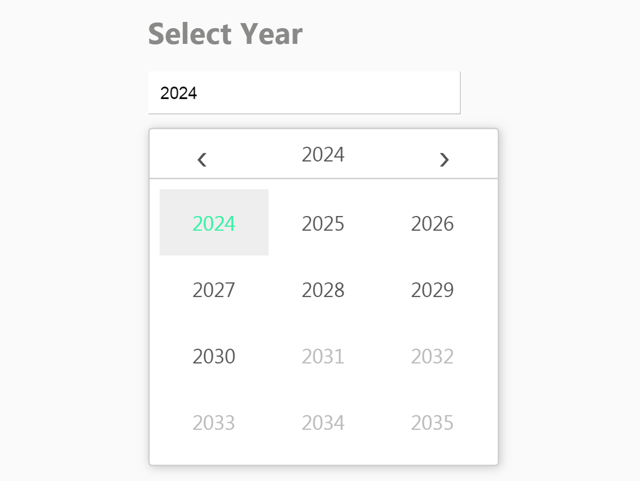 Jquery Datepicker To Pick Year Only - Yearpicker.js — Codehim