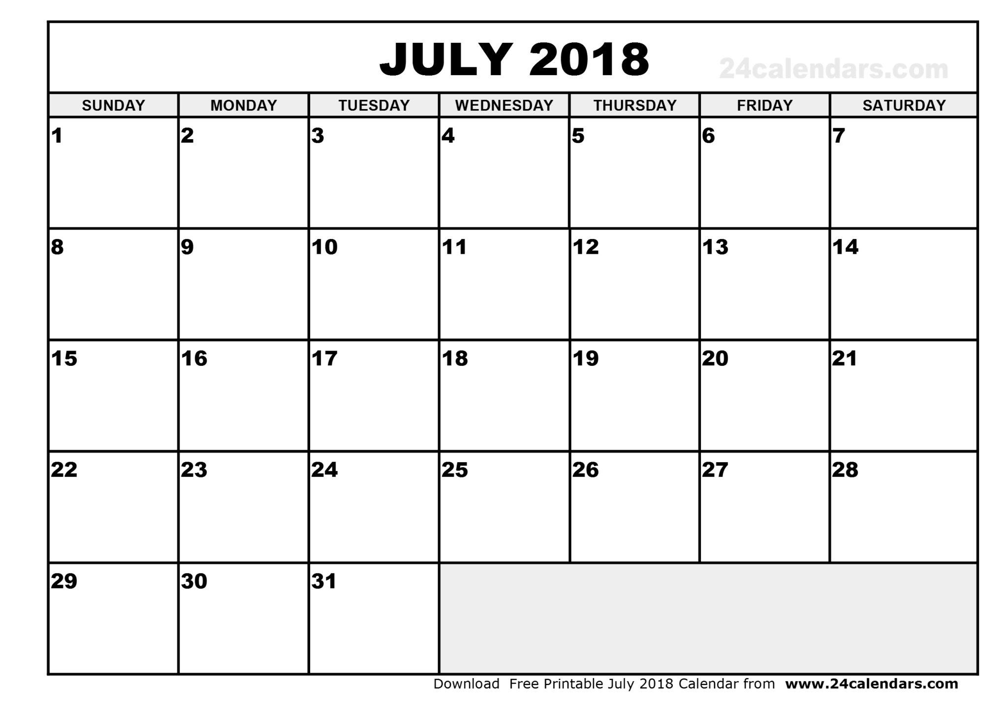 July 2018 Calendar New Zealand