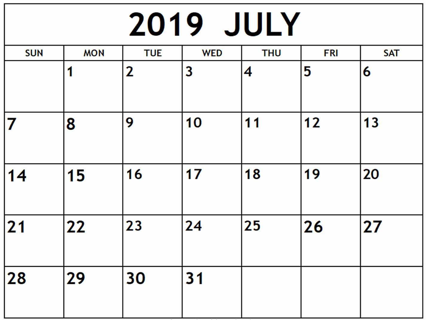 July 2019 Calendar Nz | Free Printable Calendar Shop