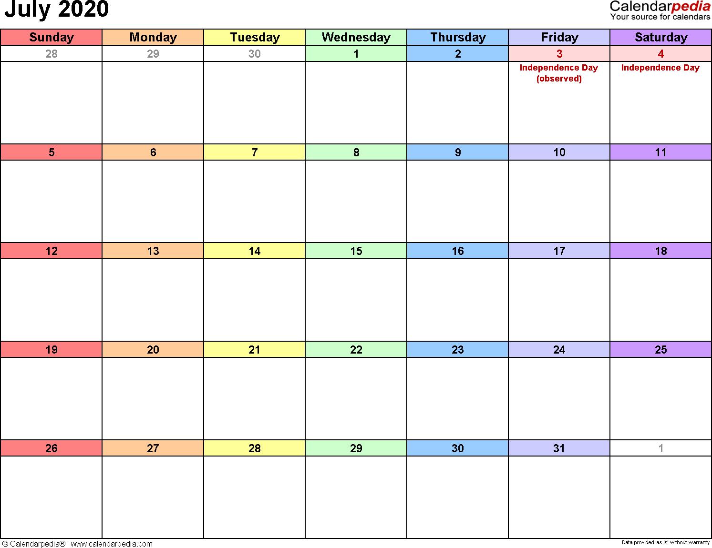 July 2020 Calendar Editable - Wpa.wpart.co