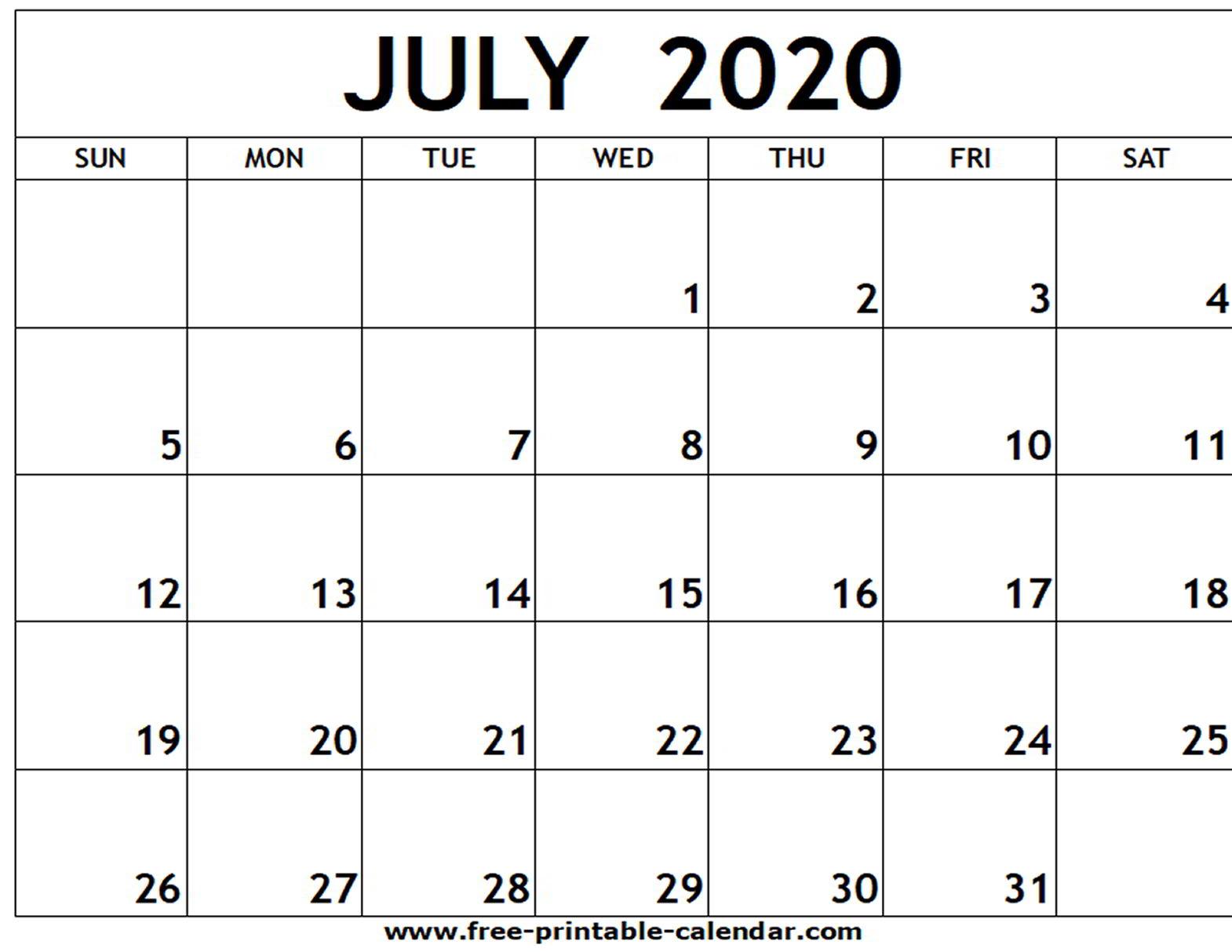 July 2020 June 2020 Calendar - Wpa.wpart.co