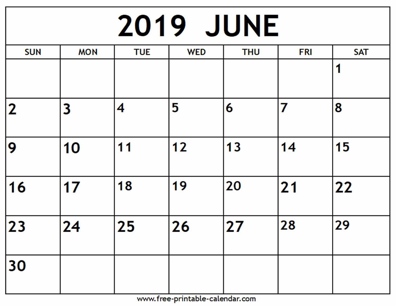 June 2019 Calendar - Free-Printable-Calendar | Calendar