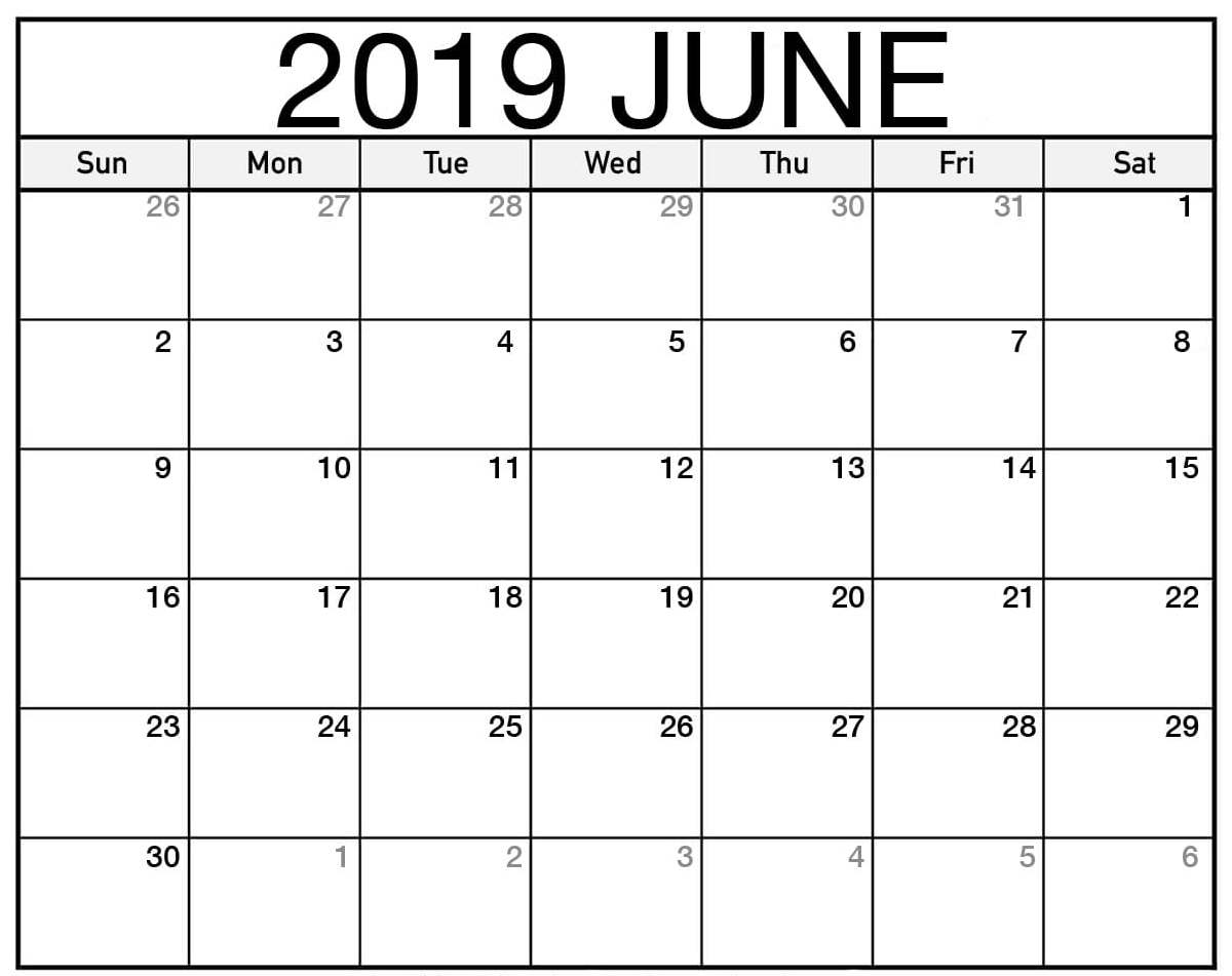 June 2019 Calendar Nz | Free Printable Calendar Shop