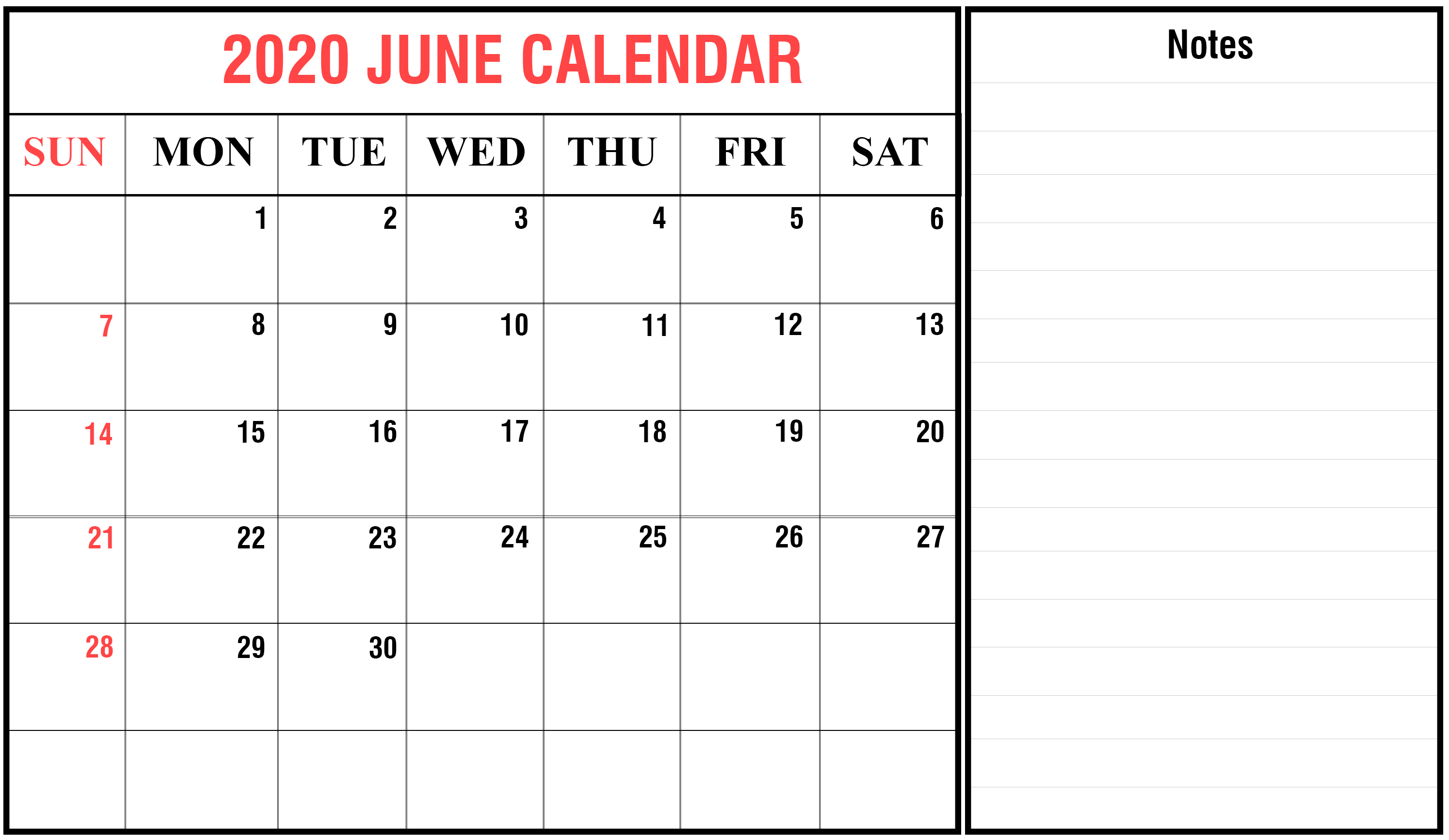 June 2020 Calendar With Holiday | Printable December