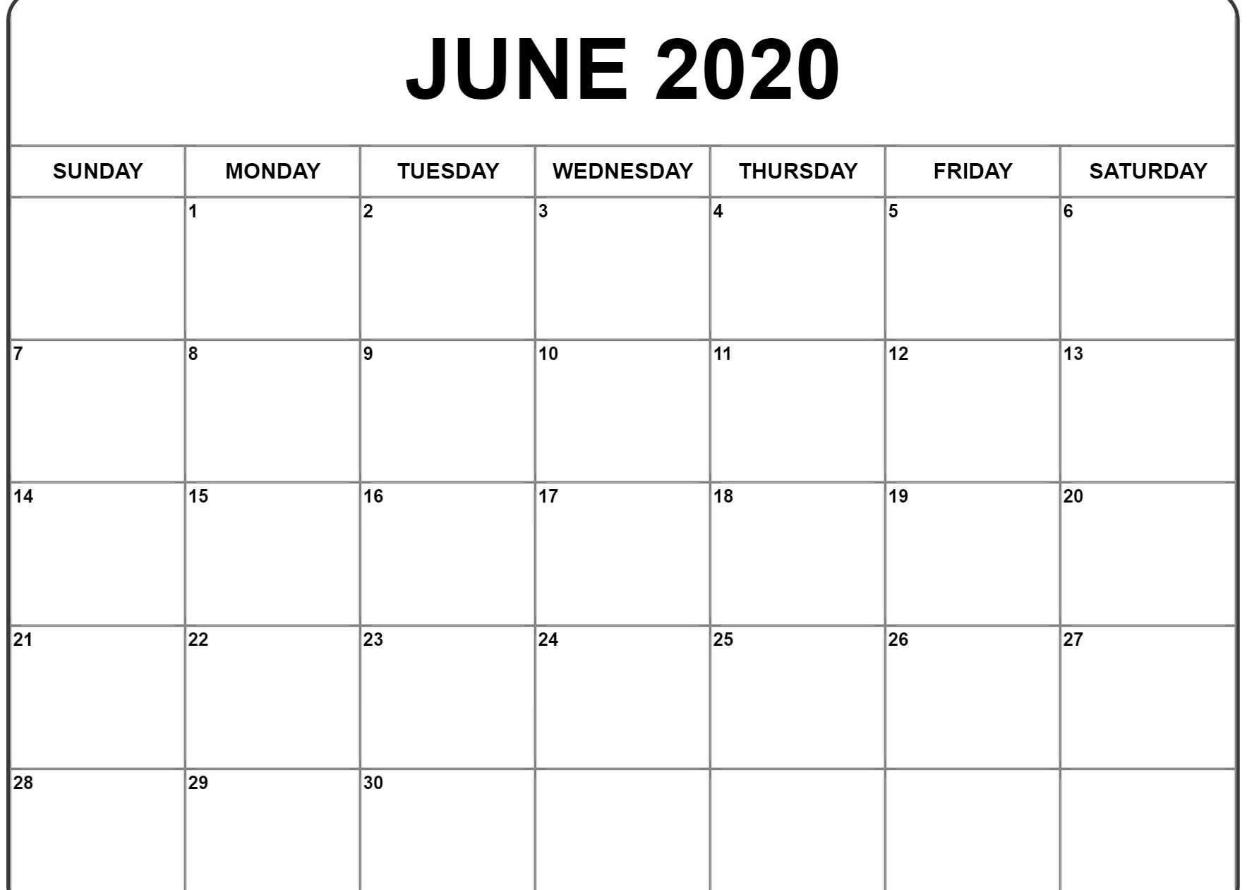 June 2020 Excel Calendar - Wpa.wpart.co