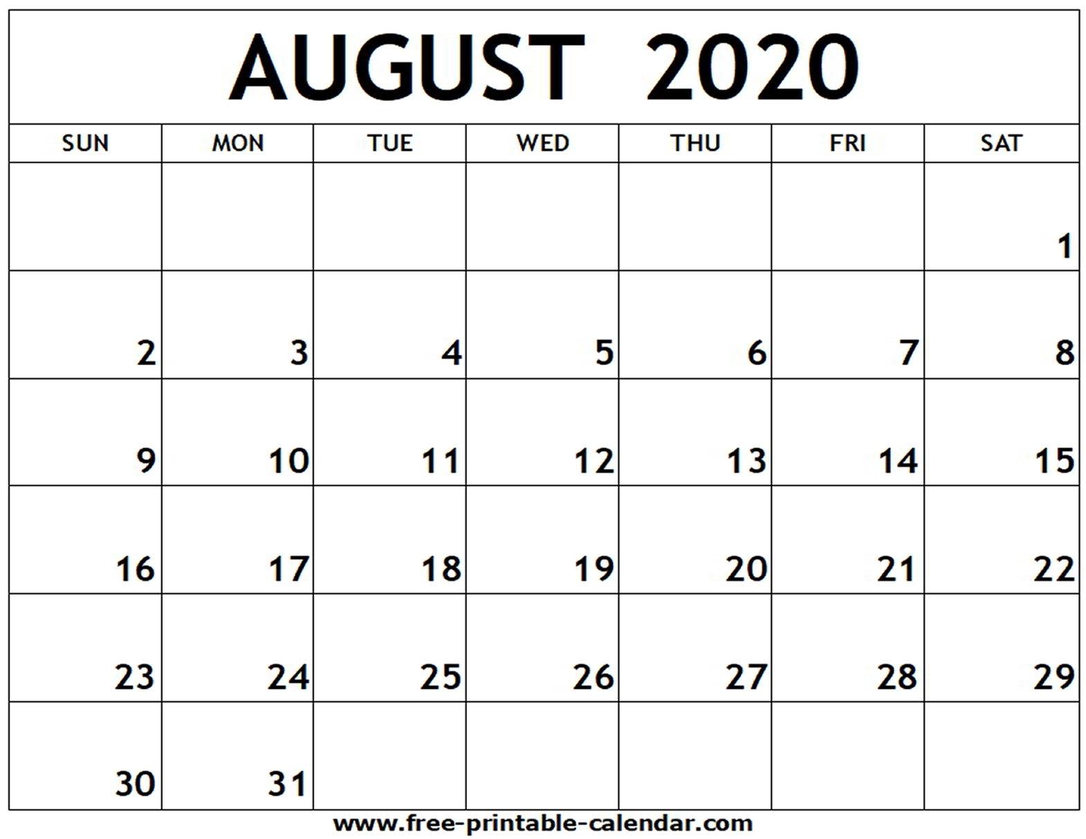June July August 2020 Printable Calendar | Monthly Printable