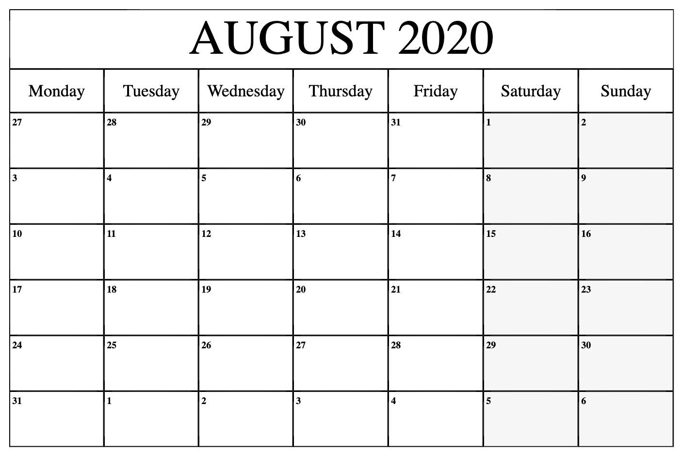 June July August 2020 Printable Calendar   Monthly Printable