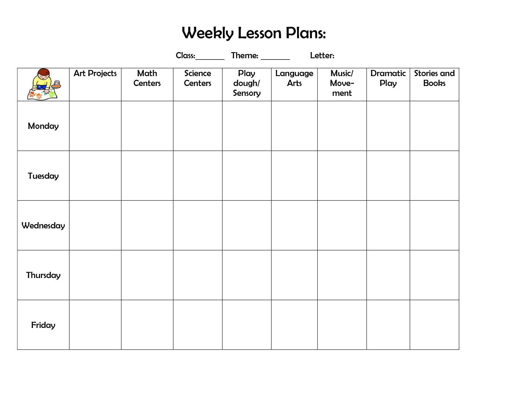Kindergarten September Blank Calendar? | Weekly Lesson Plan