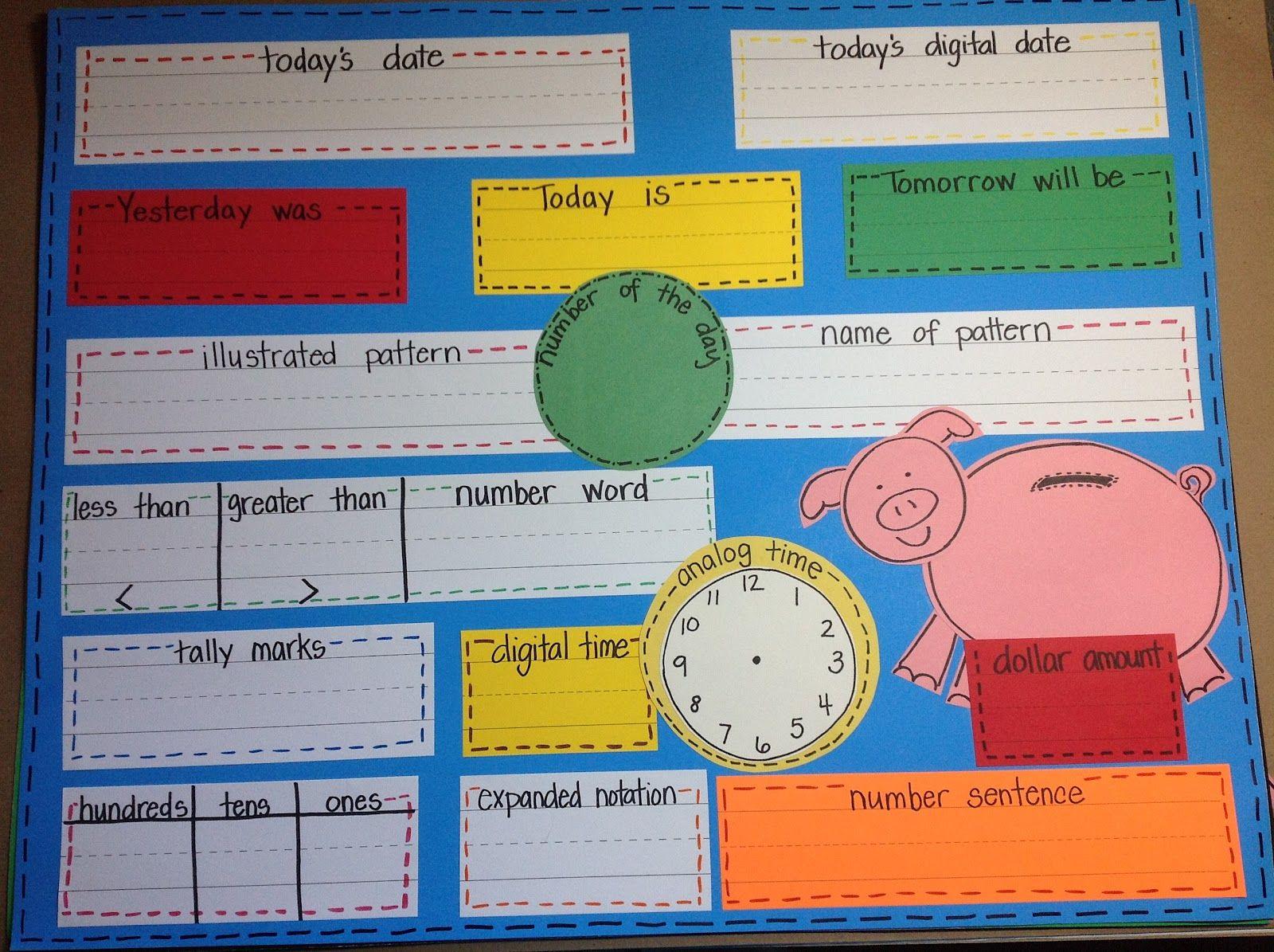 Kindiekins: Daily Math Wall {Free} Printable :) | Math Wall
