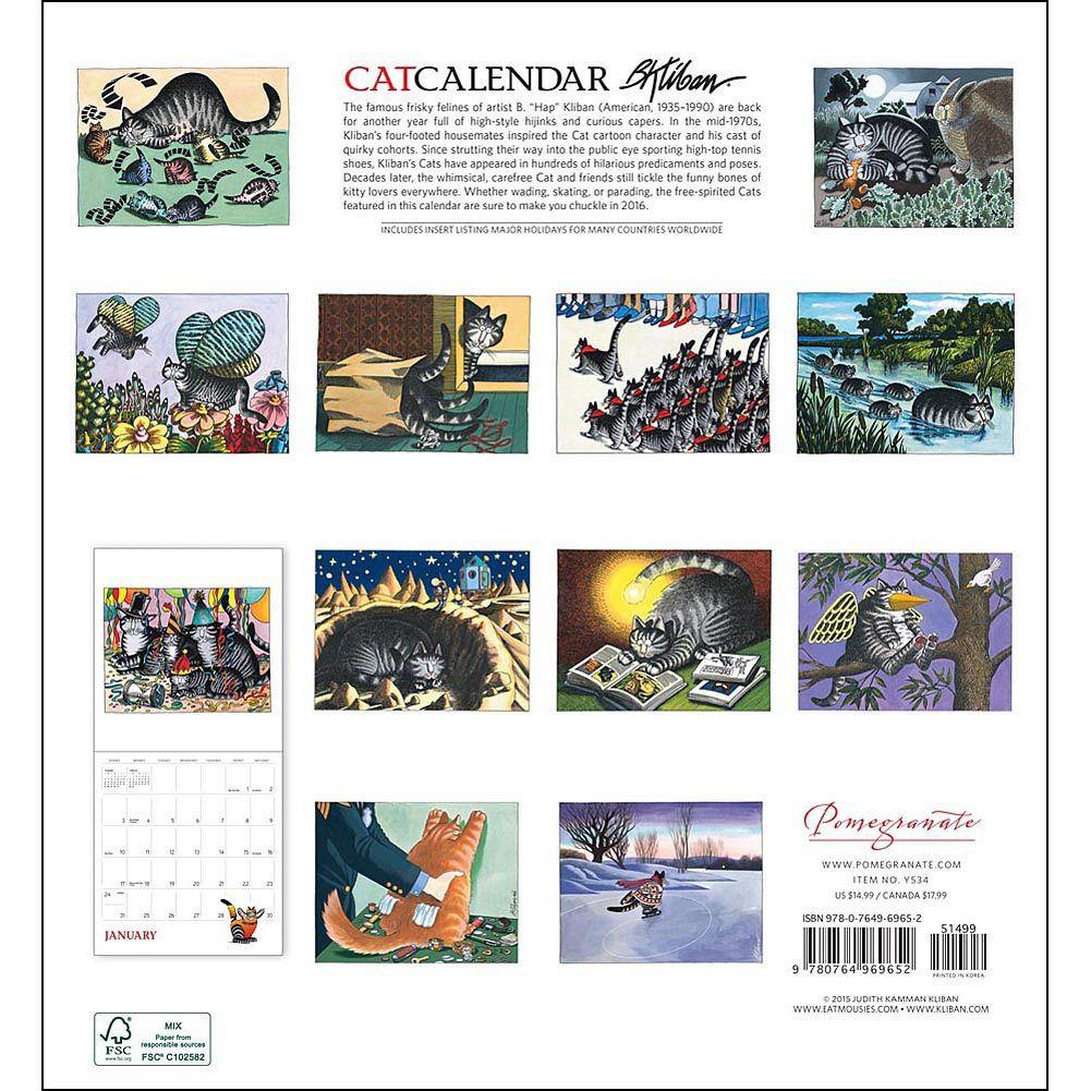 Kliban Cat Special Edition 2020 Wall Calendar | Календарь