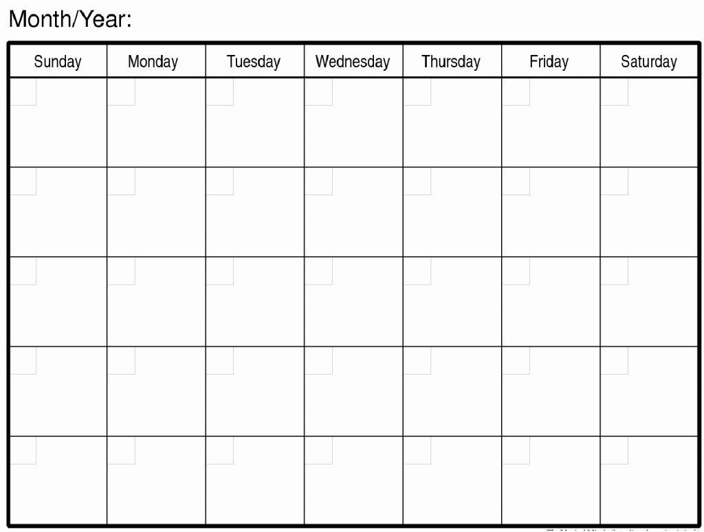 Large Blank Calendar - Wpa.wpart.co
