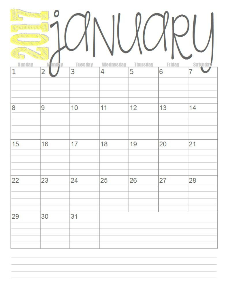 Lined Monthly Calendar - Wpa.wpart.co