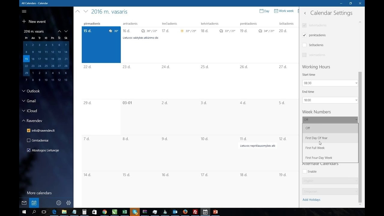 Lovely Calendar Week Widget Windows 10 : Mini Calendar Template