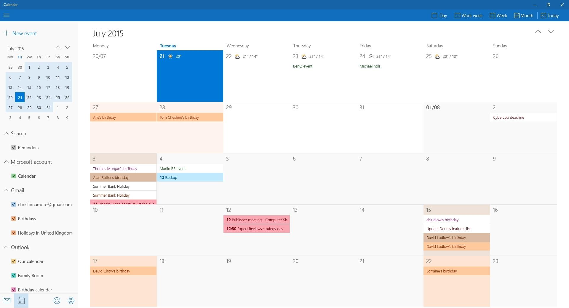 Lovely Calendar Week Widget Windows 10 : Mini Calendar Template