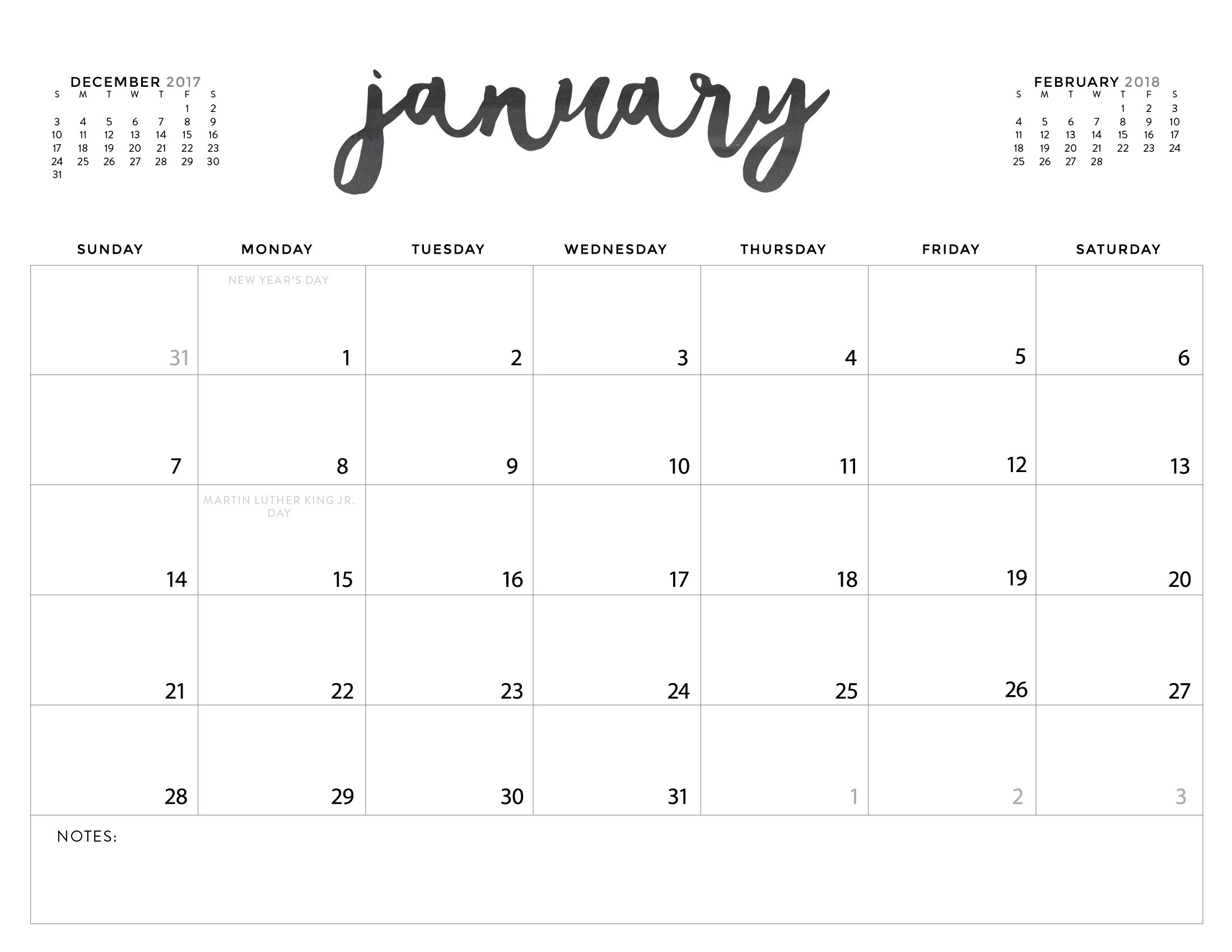 Lovely Print Calendar No Download : Mini Calendar Template