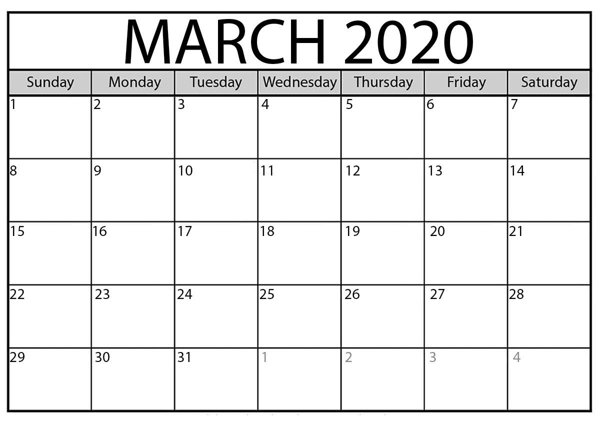 March Calendar 2020 – Usa Festivals & Holidays | Free