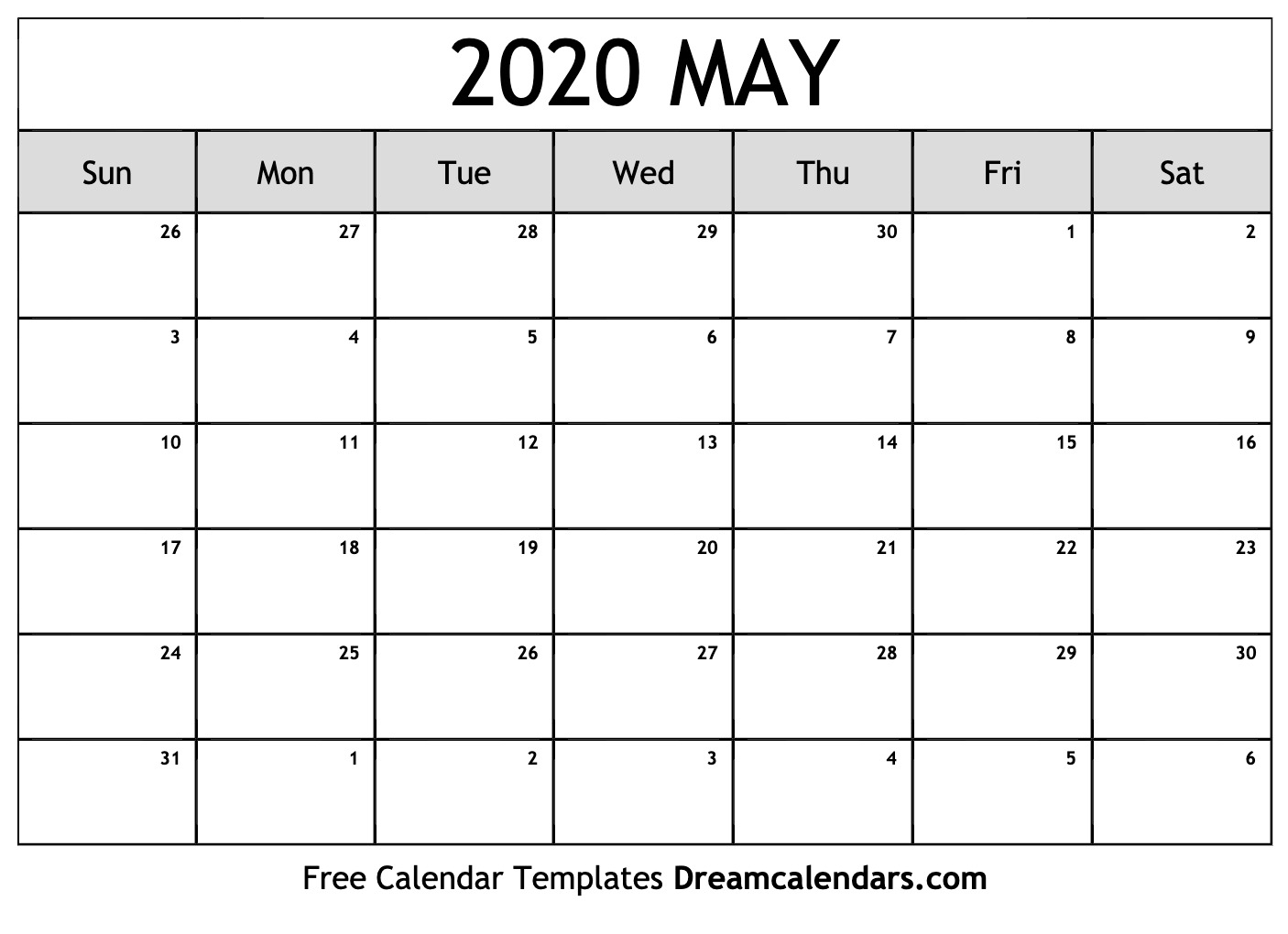 May Calendar 2020 - Wpa.wpart.co
