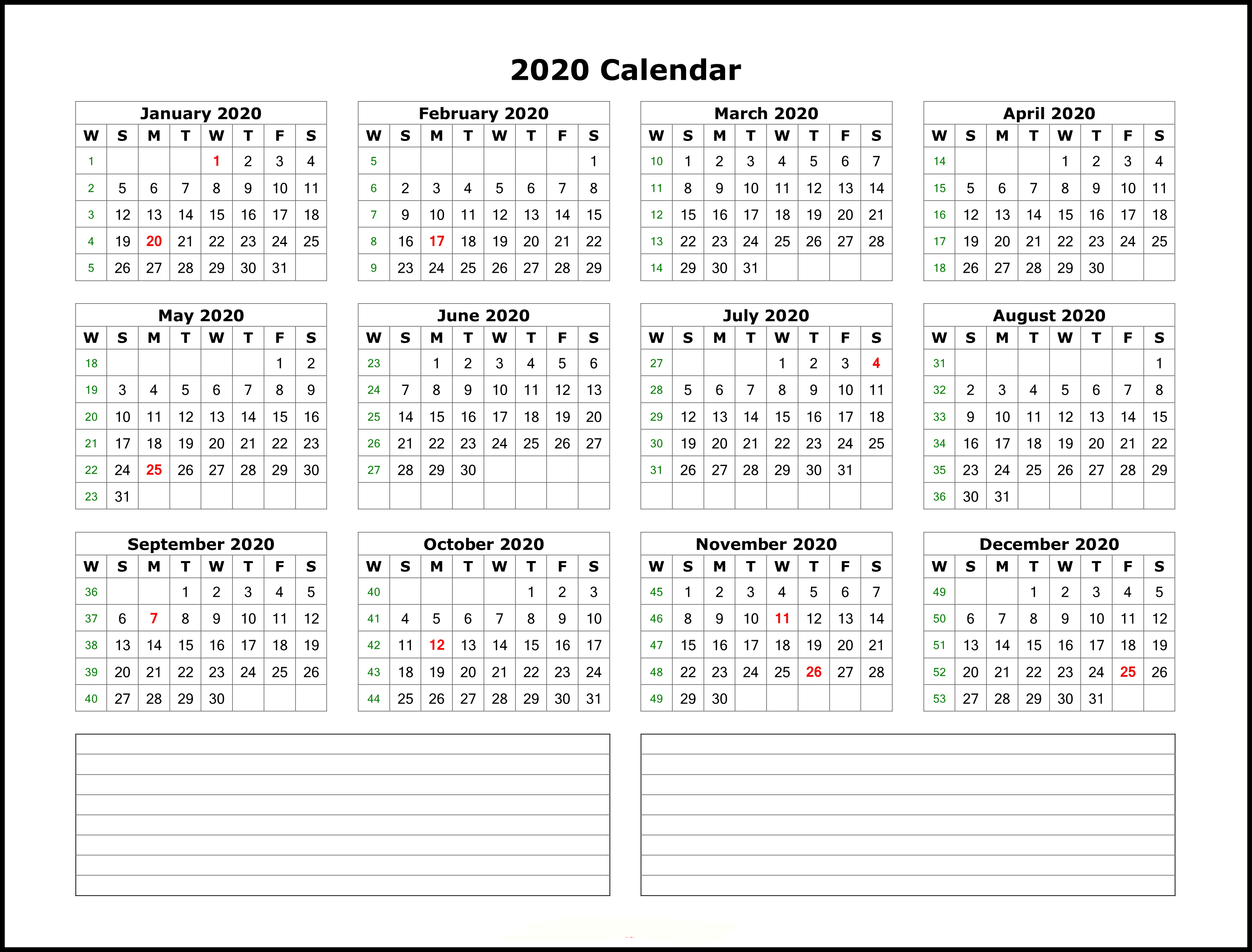 Microsoft Office Calendars 2020 - Wpa.wpart.co