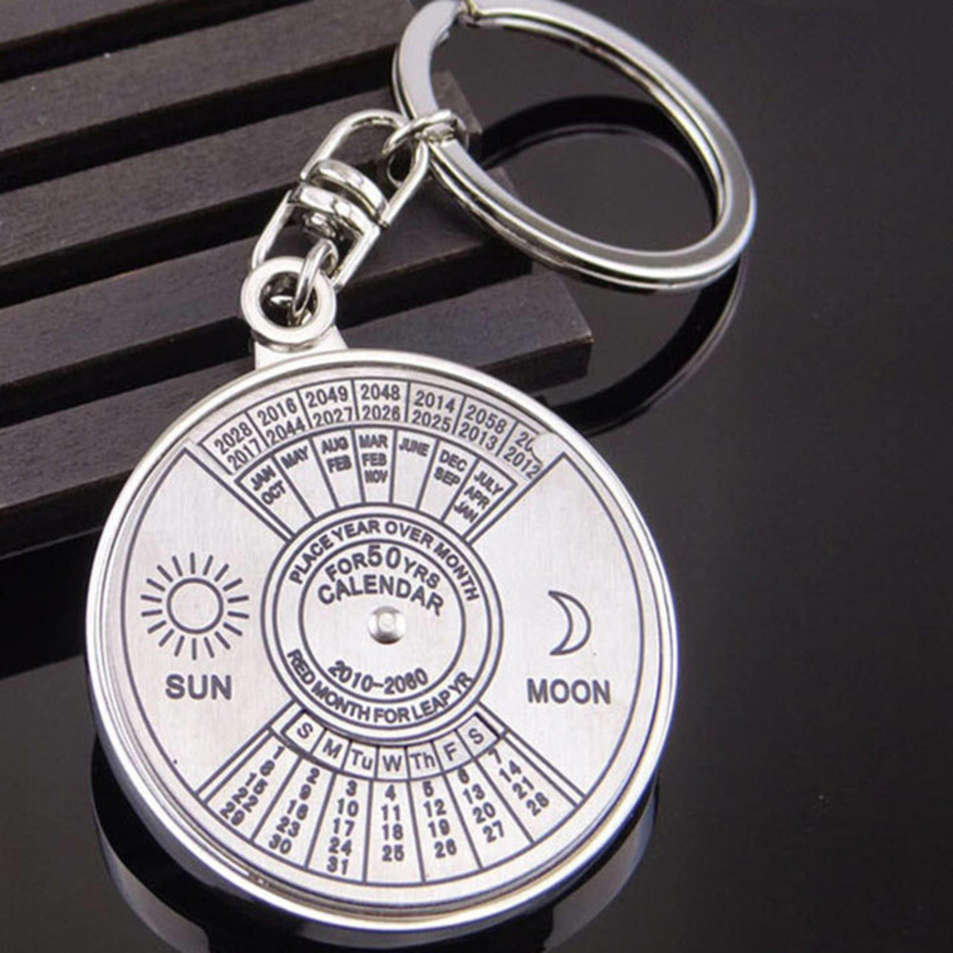 Mini 50 Years Calendar Keychain