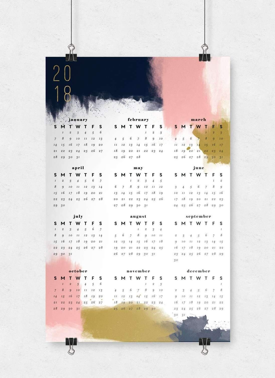 Modern Abstract Wall Calendar | 11X17 | Products | Wall