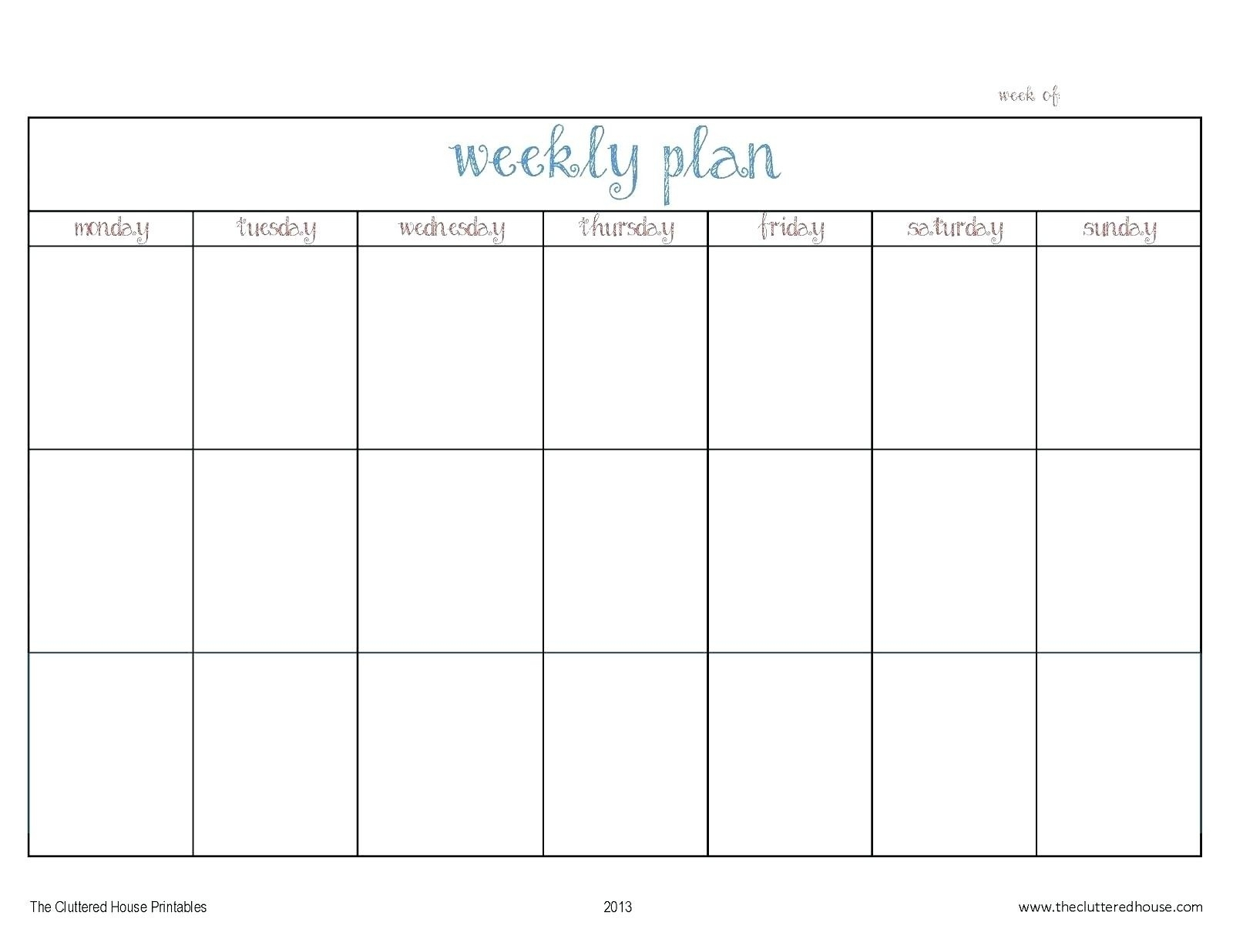 Monday To Friday Calendar - Wpa.wpart.co