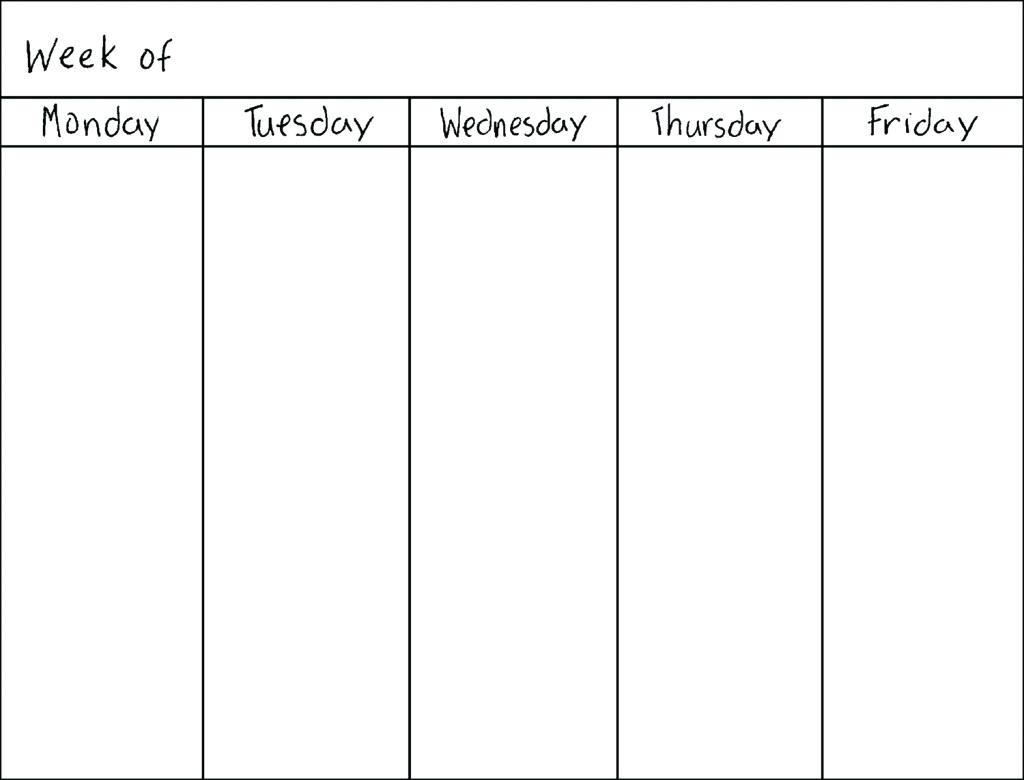 Monday To Friday Calendar - Wpa.wpart.co