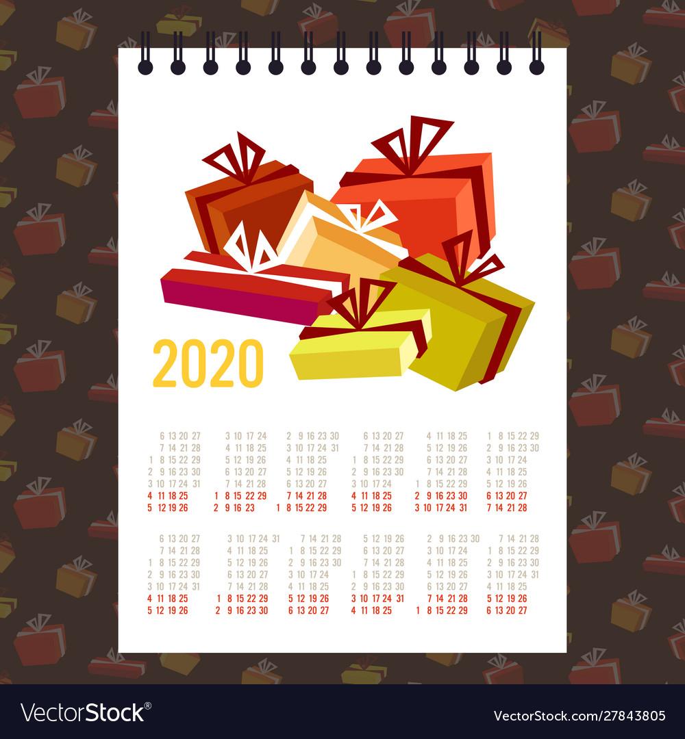 Moon 2020 Calendar Gift Present Boxes Merry