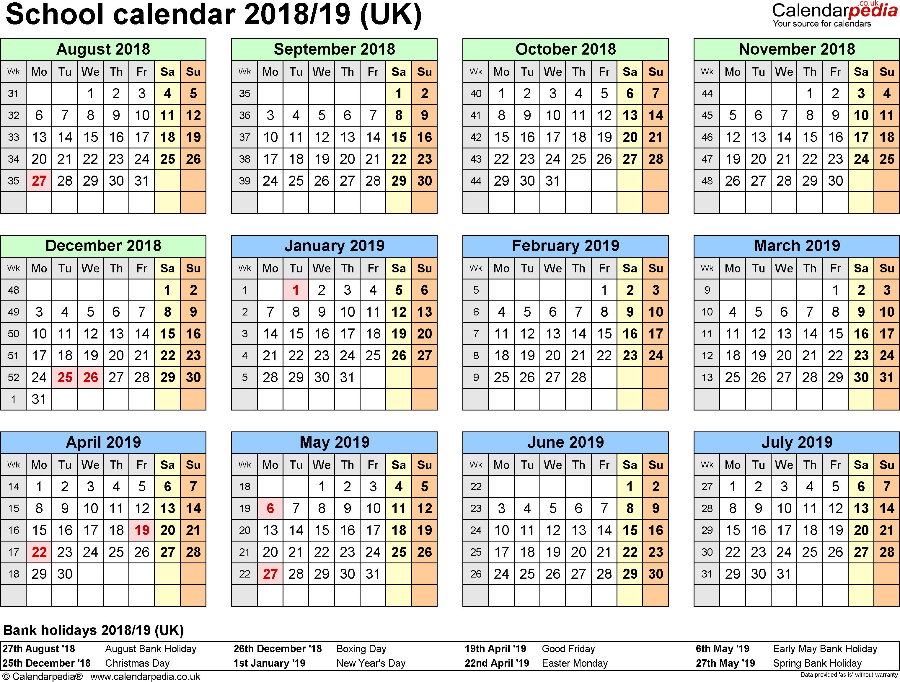New Year Calendar 2018 Pdf – Printable Year Calendar