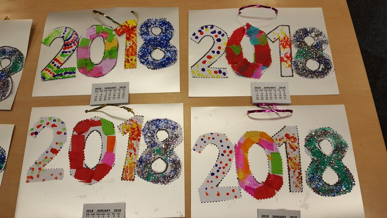 New Year's Year Craft | Calendar Ideas For Kids To Make