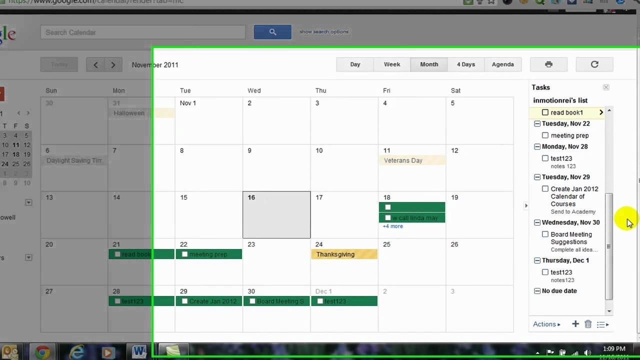 Nifty Print Google Calendar With Tasks : Mini Calendar Template