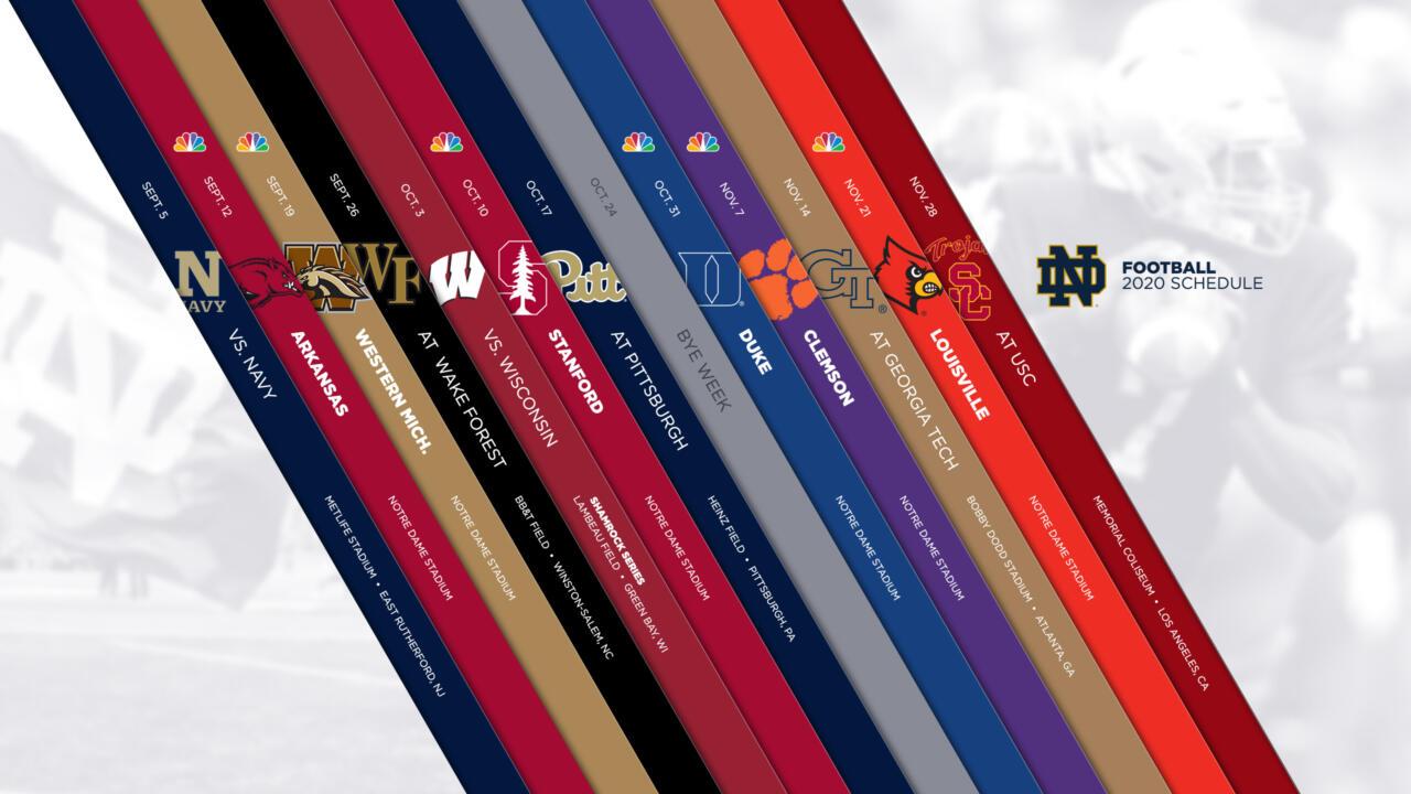 Notre Dame Announces 2020 Football Schedule – Notre Dame