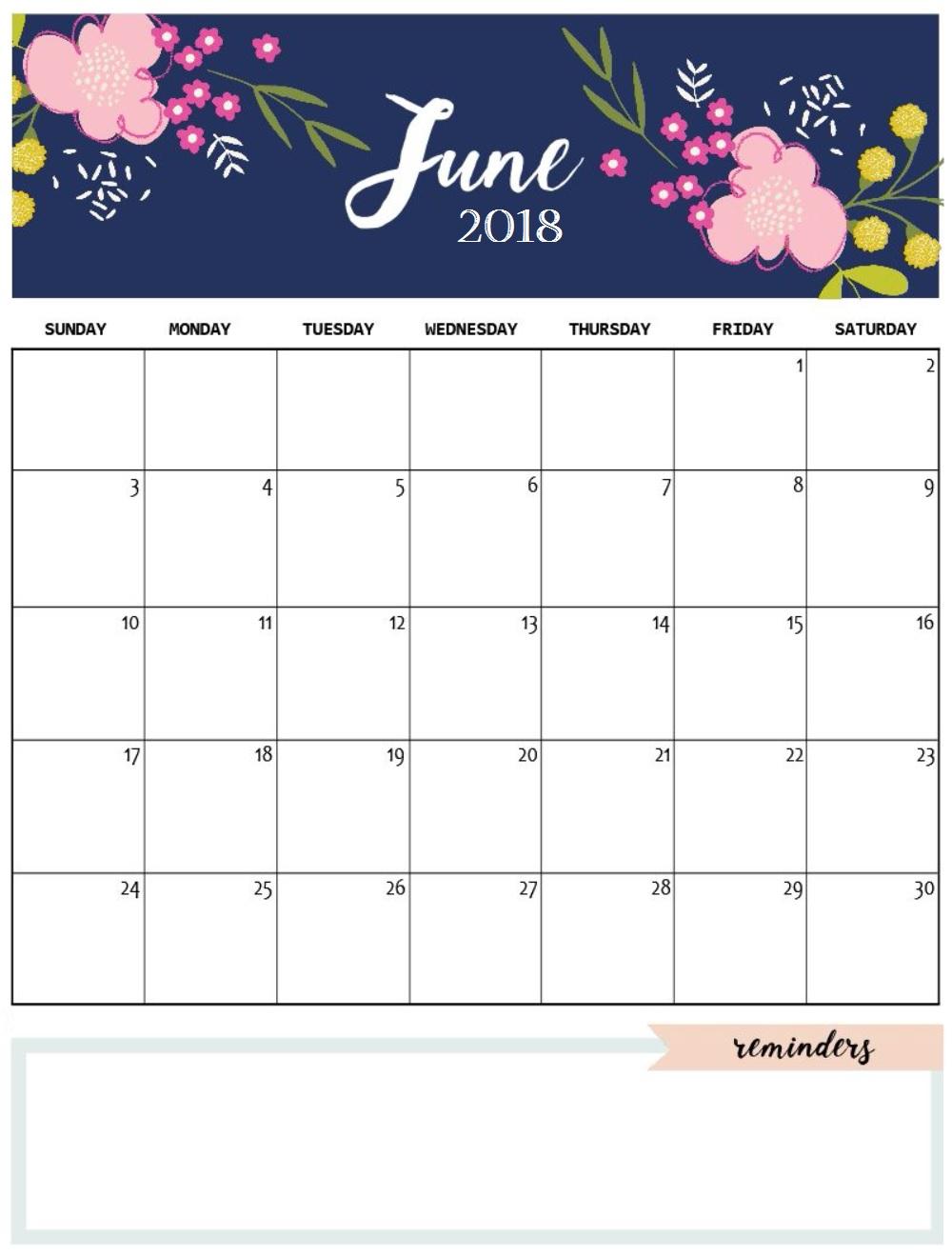 November 2018 Calendar Cute – Printable Month Calendar