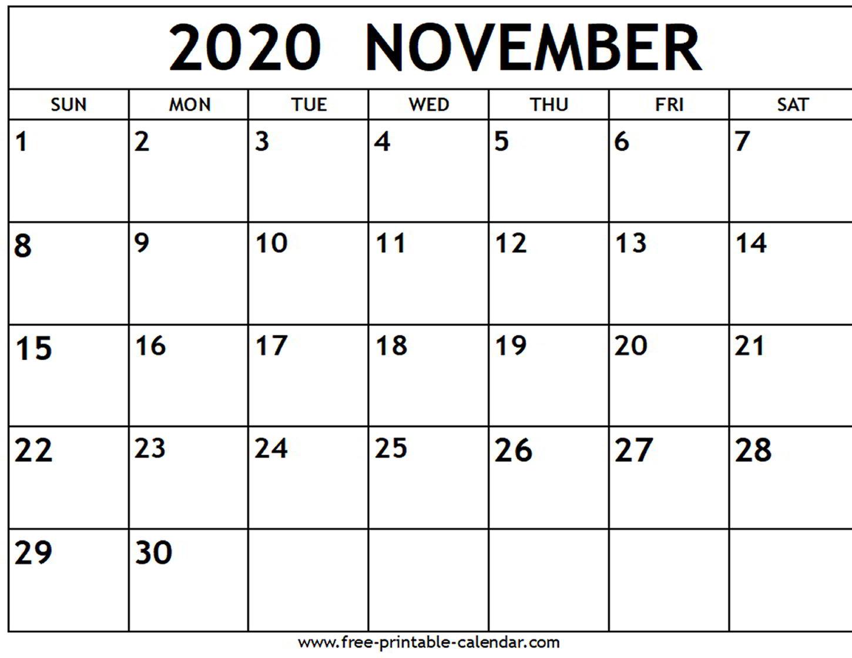 November 2020 Calendar Editable - Wpa.wpart.co