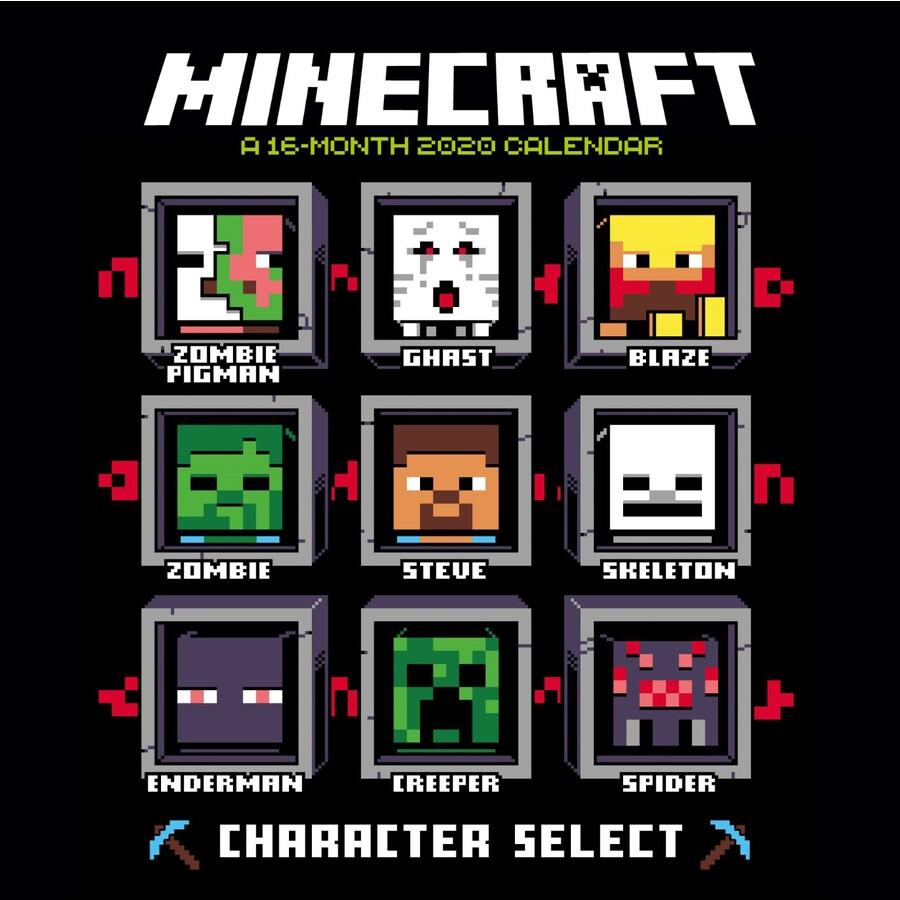 Official Minecraft 2020 Square Wall Calendar