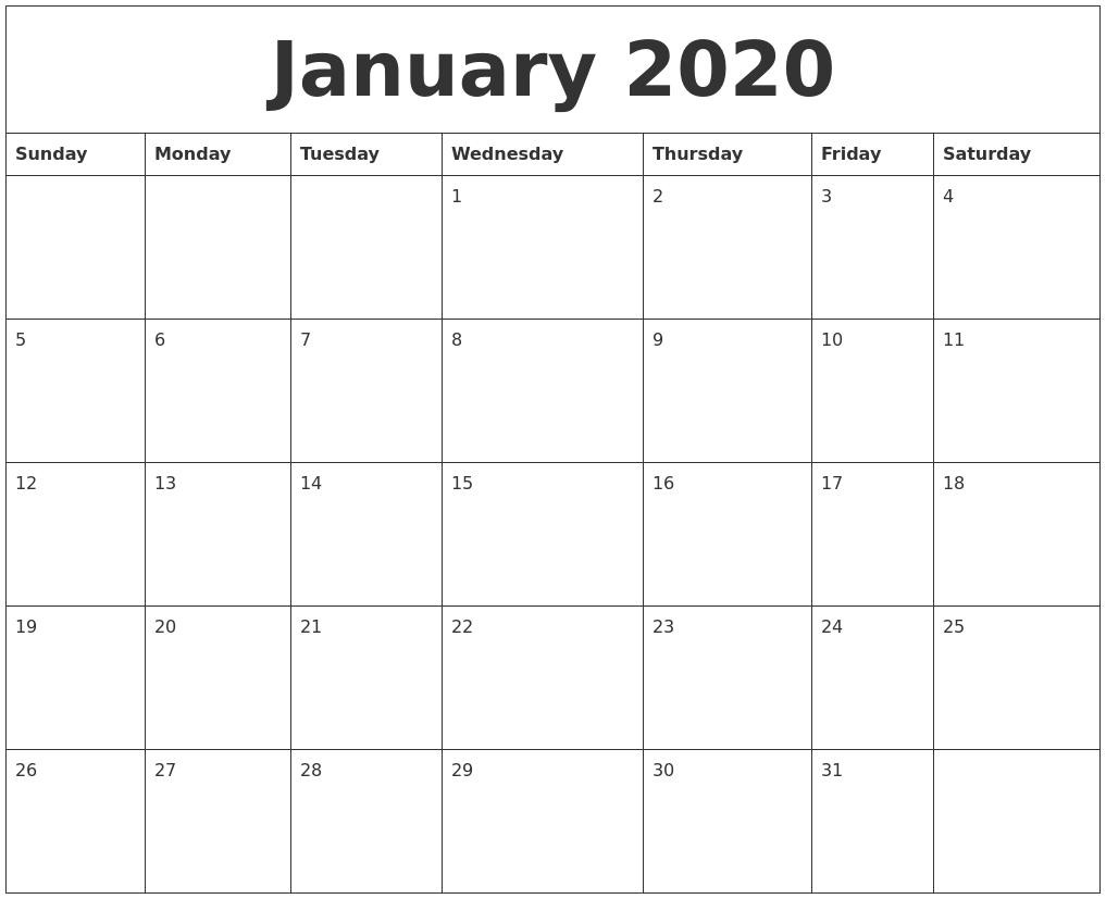 Online Calendar Jan 2020 - Wpa.wpart.co