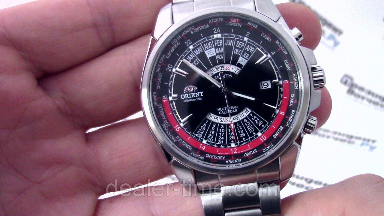 Orient Automatic Multi Year Calendar World Time Eu0B001B - Bigl.ua