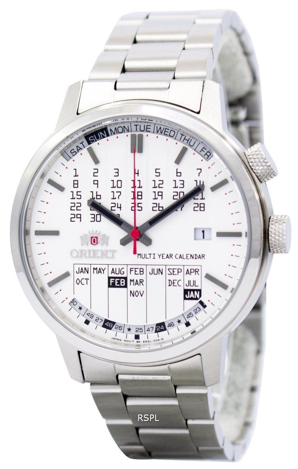 Orient Stylish And Smart Multi-Year Calendar Er2L004W Mens