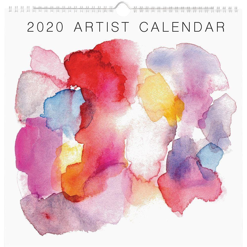 """Paper Source 2020 Artist Calendar, 12 Month, 12"""" X 12"""""""
