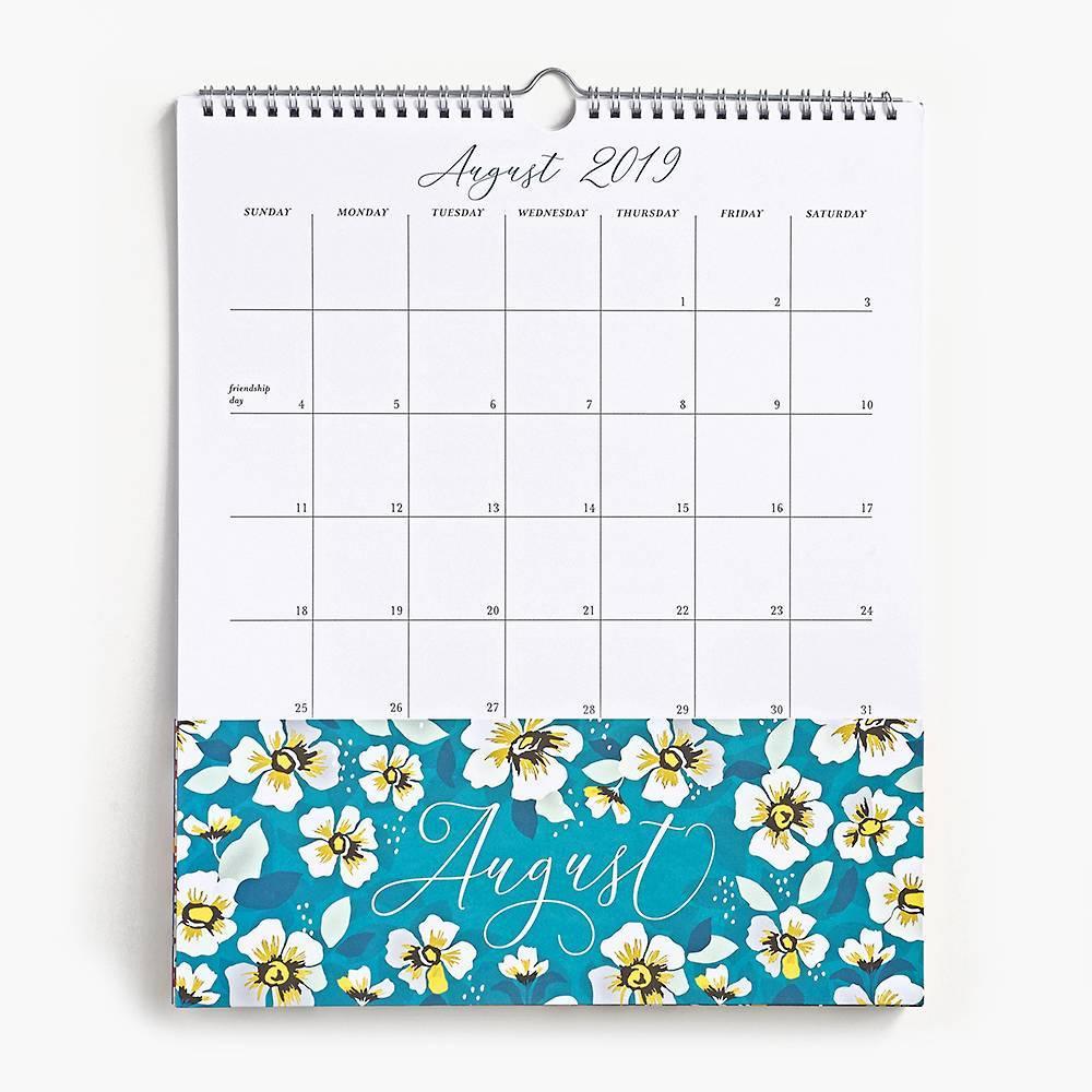 Paper Source Floral 2019/2020 Pocket Calendar In 2019