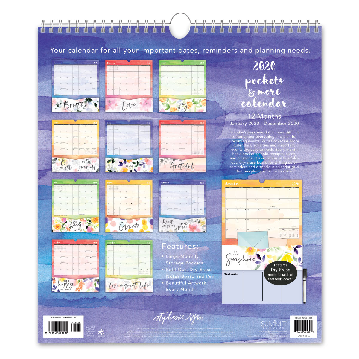 Petal & Lightstephanie Ryan 2020 Pockets & More Calendar