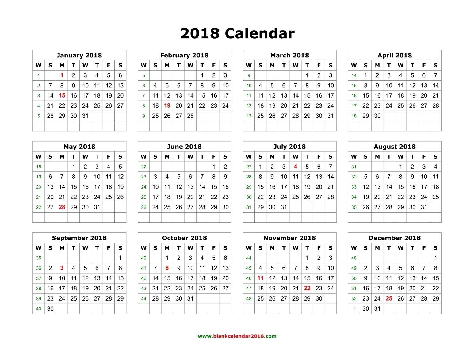 Pincalendar Printable On 2018 Calendar | 2018 Calendar