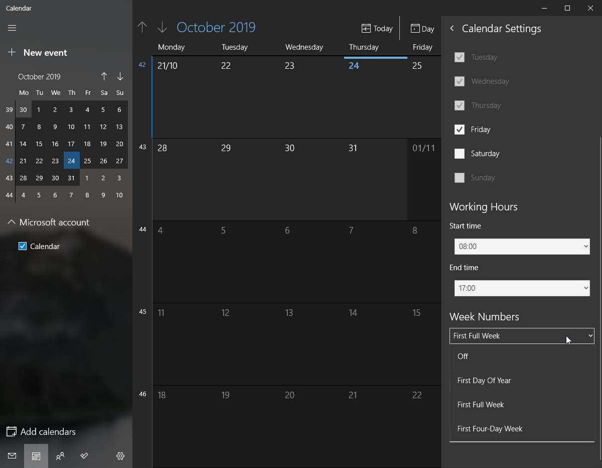 Powertoy Suggestion/enhancement: Tray Calendar Week Numbers